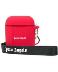 Palm Angels Logo-print Airpods Case - Red