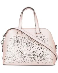 Christian Siriano - Floral Cut-out Satchel Bag - Lyst