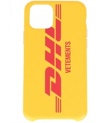 Vetements X Dhl Iphone 11 Case - Yellow