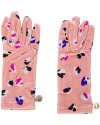 Moschino Перчатки С Графичным Принтом - Розовый