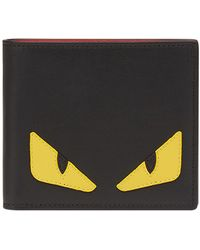 Fendi Monster Black Leather Wallet
