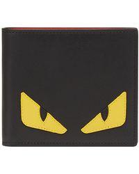 Fendi Monster Black Leather Wallet