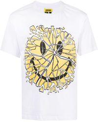 Chinatown Market Camiseta Glass Smiley - Blanco