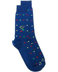 Etro パターン 靴下 - ブルー