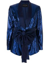 Christian Pellizzari Sequined Smoking Jacket - Blue