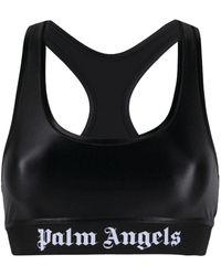 Palm Angels Classic Logo Sports Bra Black White - ブラック