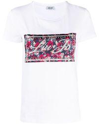 Liu Jo - フローラル ロゴ Tシャツ - Lyst