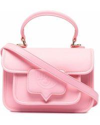 Chiara Ferragni Logo Embossed Satchel - Pink