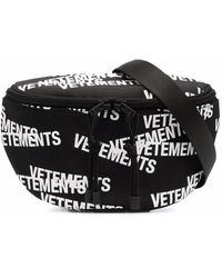 Vetements ロゴ ベルトバッグ - ブラック