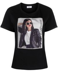 Liu Jo T-shirt con stampa - Nero