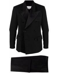 Maison Margiela ダブルブレスト タキシードスーツ - ブラック
