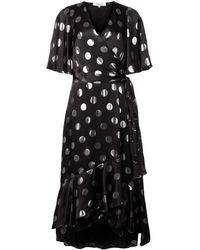 Diane von Furstenberg Polka-dot Flared Dress - Zwart