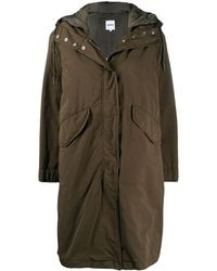 Aspesi Hooded Mid-lenght Parka - Green