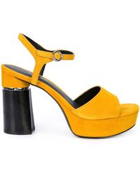 3.1 Phillip Lim Ziggy Suede Platform Sandal - Желтый