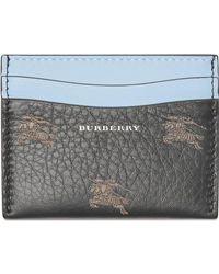 Burberry - Ekd Leather Card Case - Lyst