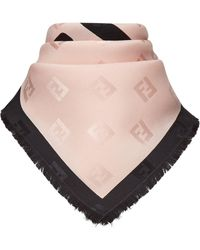 Fendi Jacquard-woven Logo Scarf - Pink