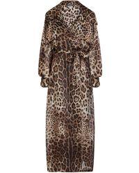 Dolce & Gabbana Тренч С Леопардовым Принтом - Коричневый