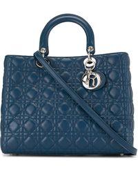 Dior Borsa Lady Dior Cannage 2way - Blu