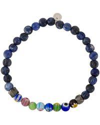 Tateossian Millefiori Beaded Bracelet - Blue