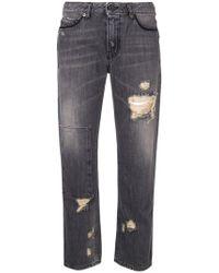 Diesel Black Gold - Cropped Straight Leg Jeans - Lyst