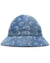 Marine Serre Moon Bucket Hat - Blue