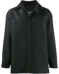 Fendi オーバーサイズ シャツジャケット - ブラック