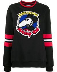 Moschino Mickey Rat スウェットシャツ - ブラック