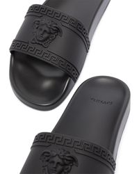 Versace Шлепанцы С Тиснением Medusa - Черный