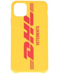 Vetements Dhl Logo Print Iphone 11 Pro Case - Yellow