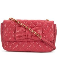 Boutique Moschino Quilted Crossbody Bag - Pink