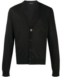 Versace Кардиган На Пуговицах - Черный