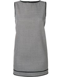 DSquared² Check Pattern Shift Dress - ブラック
