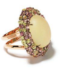 Brumani 18kt Rose Gold Baobá Diamond, Sapphire And Quartz Ring - Metallic