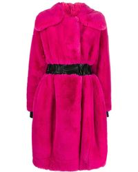 Karl Lagerfeld Faux Fur Coat - Pink