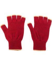 Pringle of Scotland Vingerloze Handschoenen - Rood