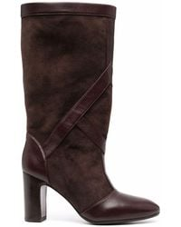 Chie Mihara Eliza Suede Thigh-length Boots - Brown