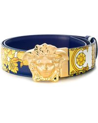 Versace Medusa Buckle Belt - Blue