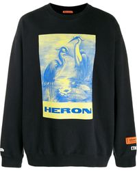 Heron Preston Sweater Met Print - Zwart