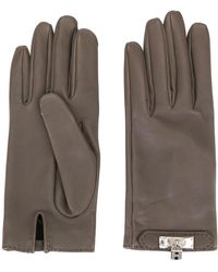 Hermès Pre-owned Cadena Motif Gloves - Gray