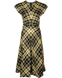 Proenza Schouler - S/s ギャザー チェック ドレス - Lyst