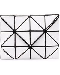 Issey Miyake Portefeuille pliant à empiècements géométriques - Blanc
