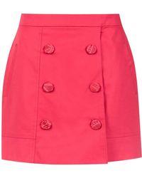 Martha Medeiros High Waisted Mini Skirt - Розовый