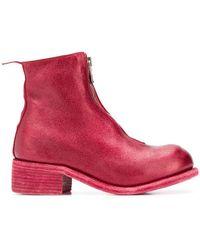 Guidi - Front Zip Metallic Boots - Lyst