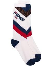 Fendi X Fila ロゴ靴下 - マルチカラー