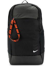 Nike Sac à dos à logo contrastant - Noir