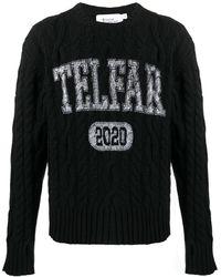 Telfar - Джемпер Фактурной Вязки С Логотипом - Lyst