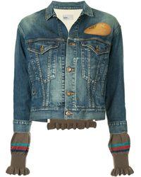 Kolor Extended Sleeve Denim Jacket - Blue