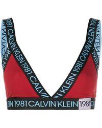 Calvin Klein Reggiseno a triangolo 1981 - Rosso