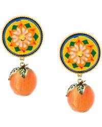 Dolce & Gabbana - Majolica Mandarin Earrings - Lyst