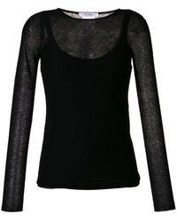 Max Mara Sheer Knit Top - Black